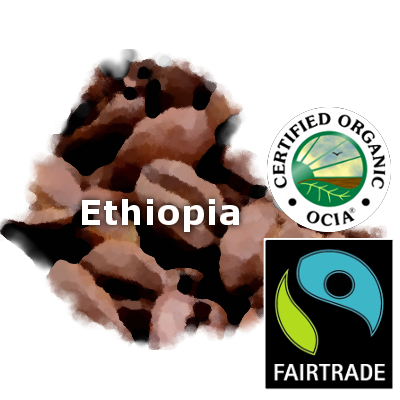 Ethiopian Yirgacheffe Fair Trade Organic Coffee 16 oz